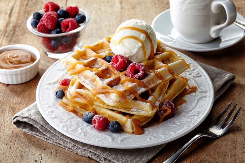 belgické waffle